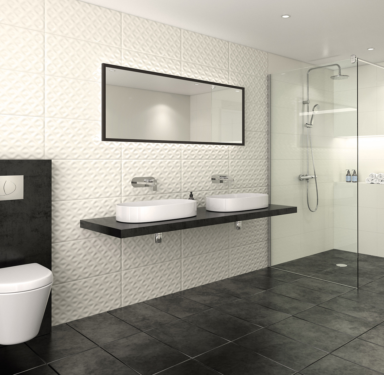 Digital rendering for Amwell Washrooms by FSG Design