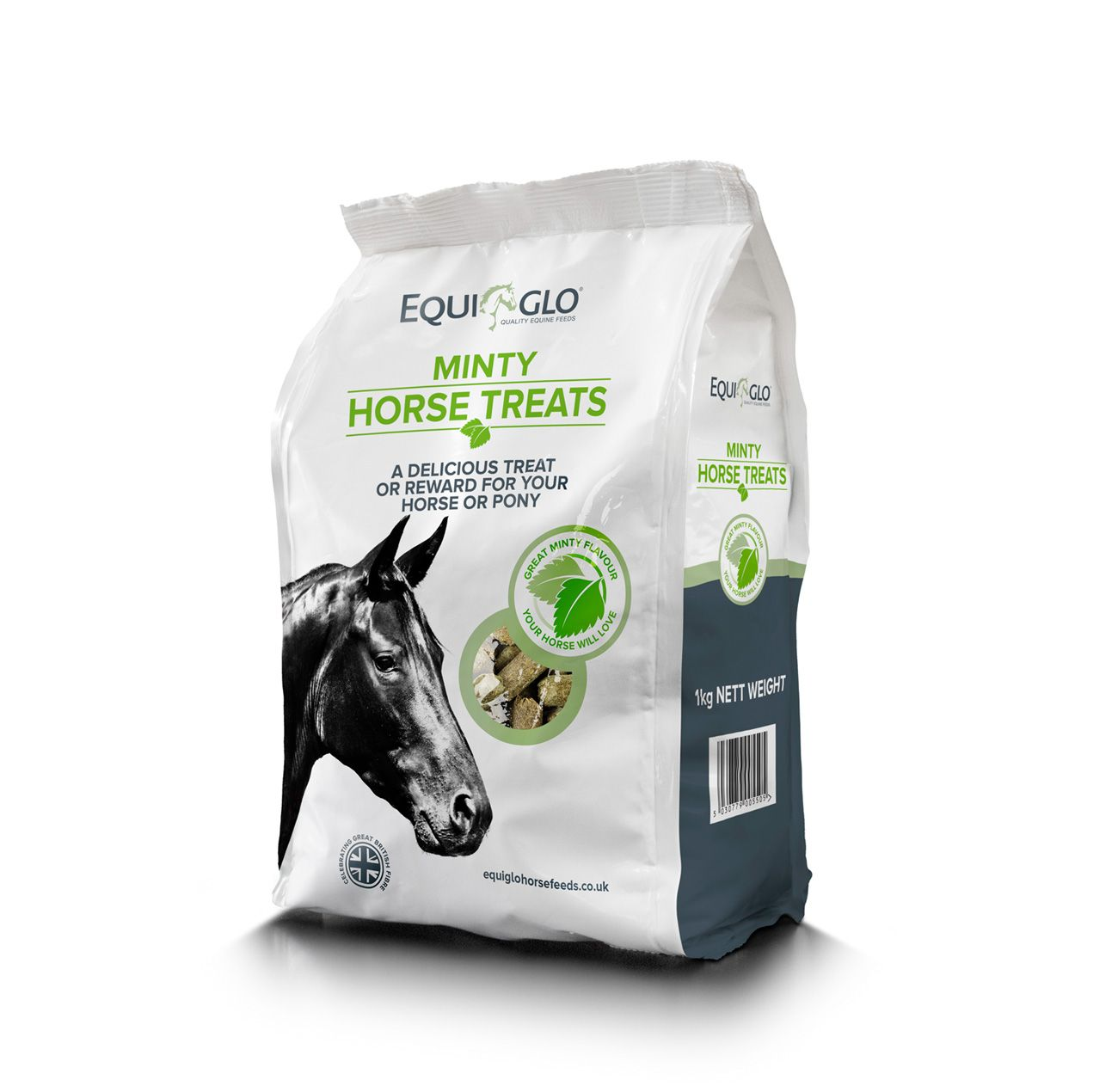Equi Glo minty horse treats packaging by FSG Design