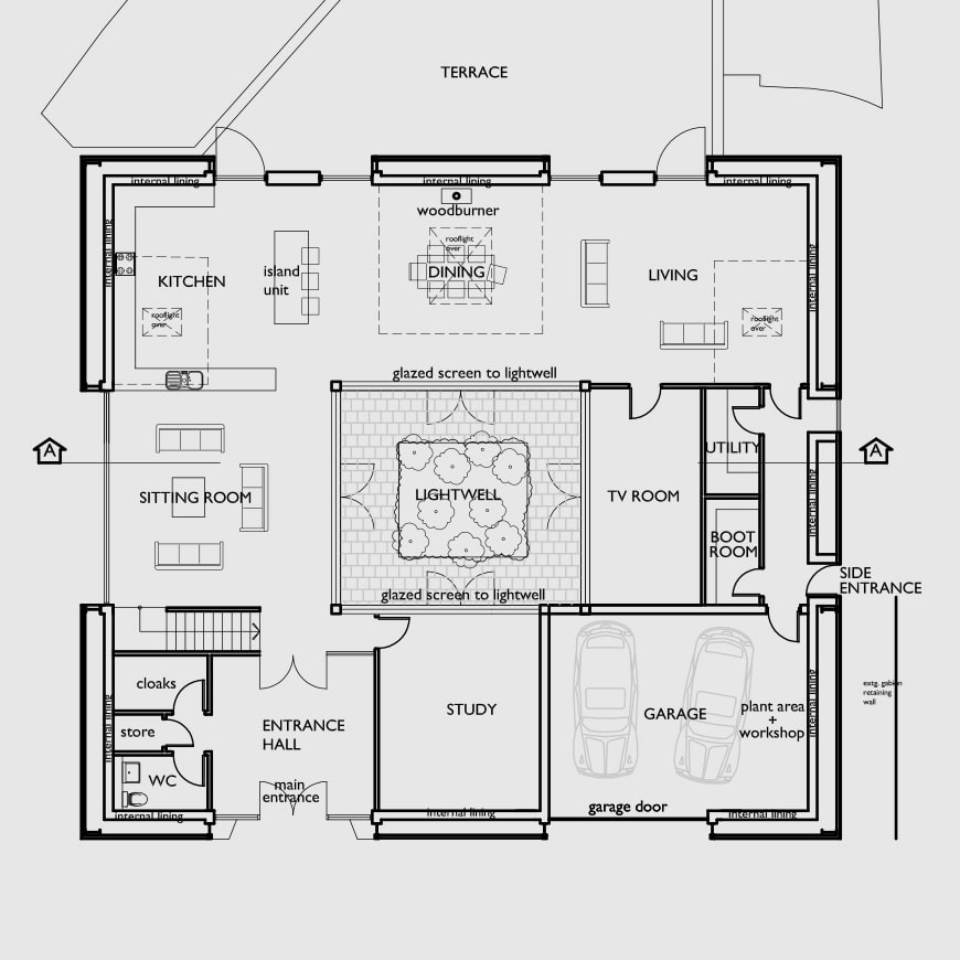 Floor plan for architectural 3D renderings by FSG Design