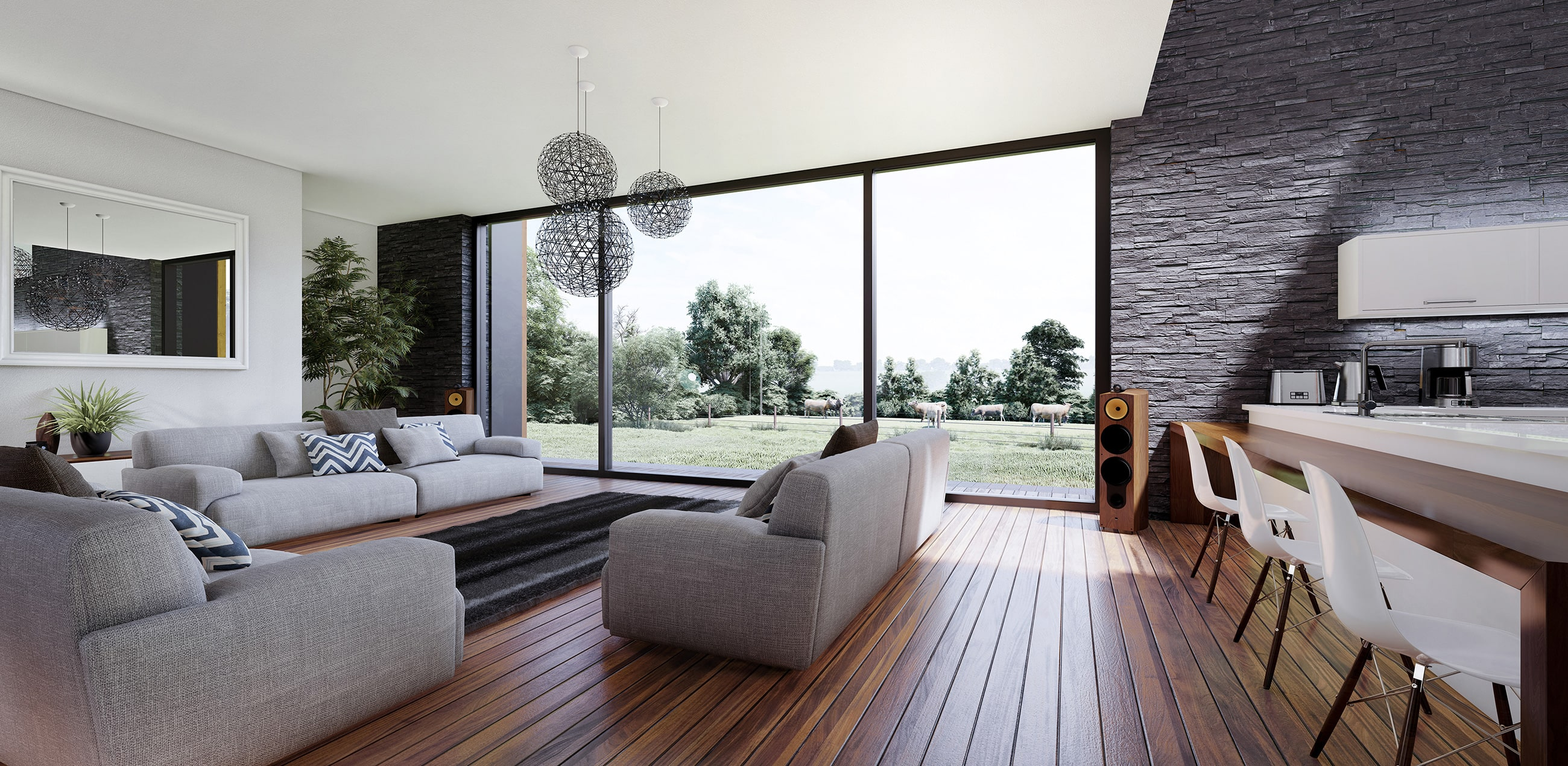 Photorealistic interior 3D rendering using Lumion
