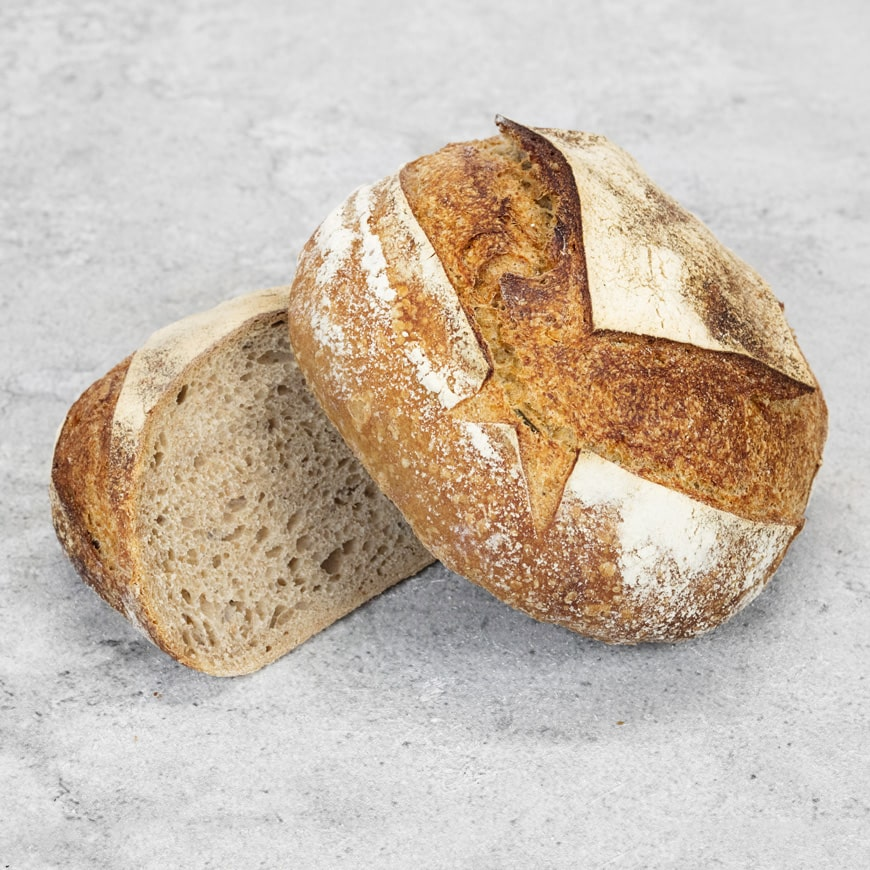 Food photography of a bread loaf for Hambleton Bakery