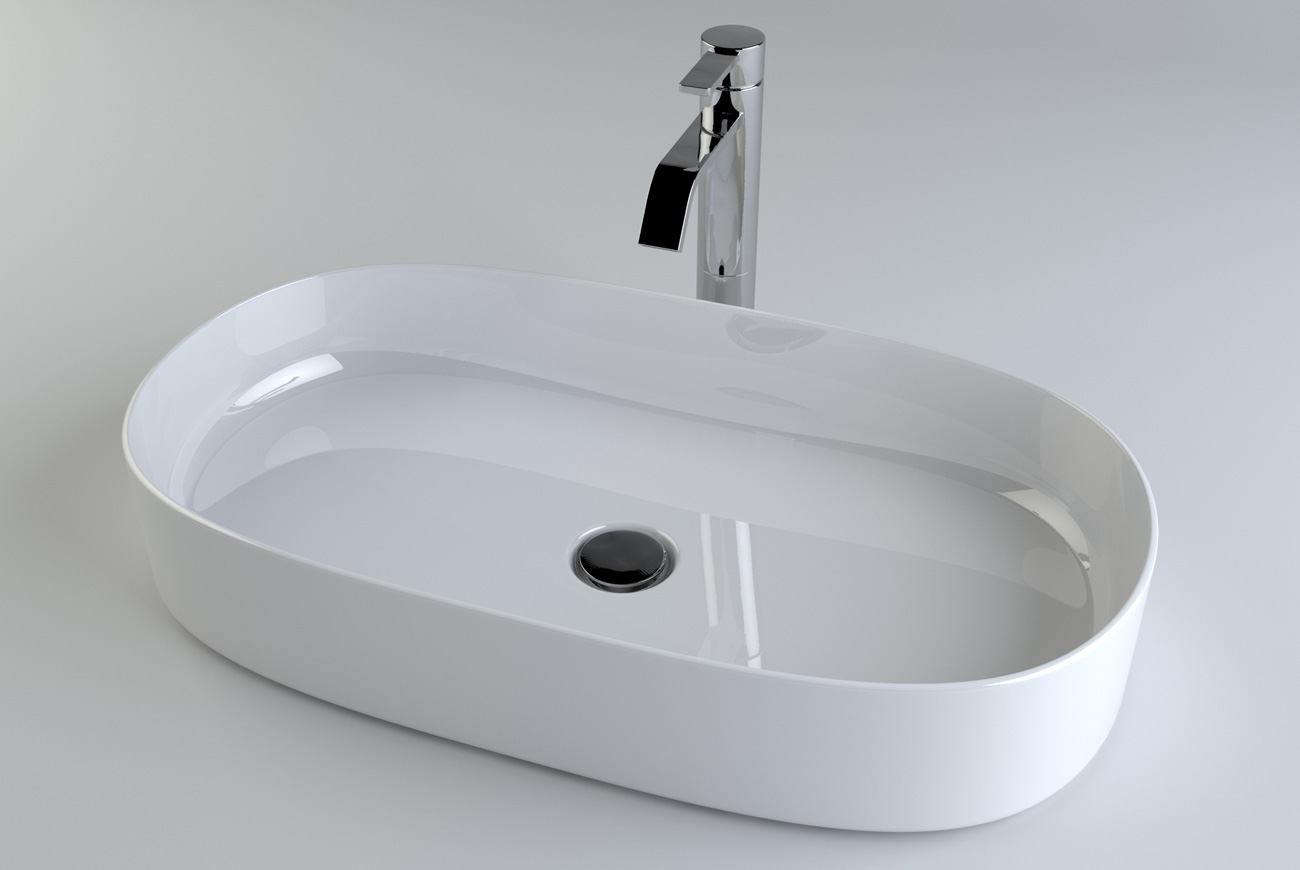 3D product visualisation of a bathroom sink