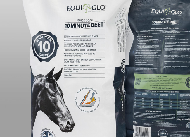 FSG packaging for Equi Glo
