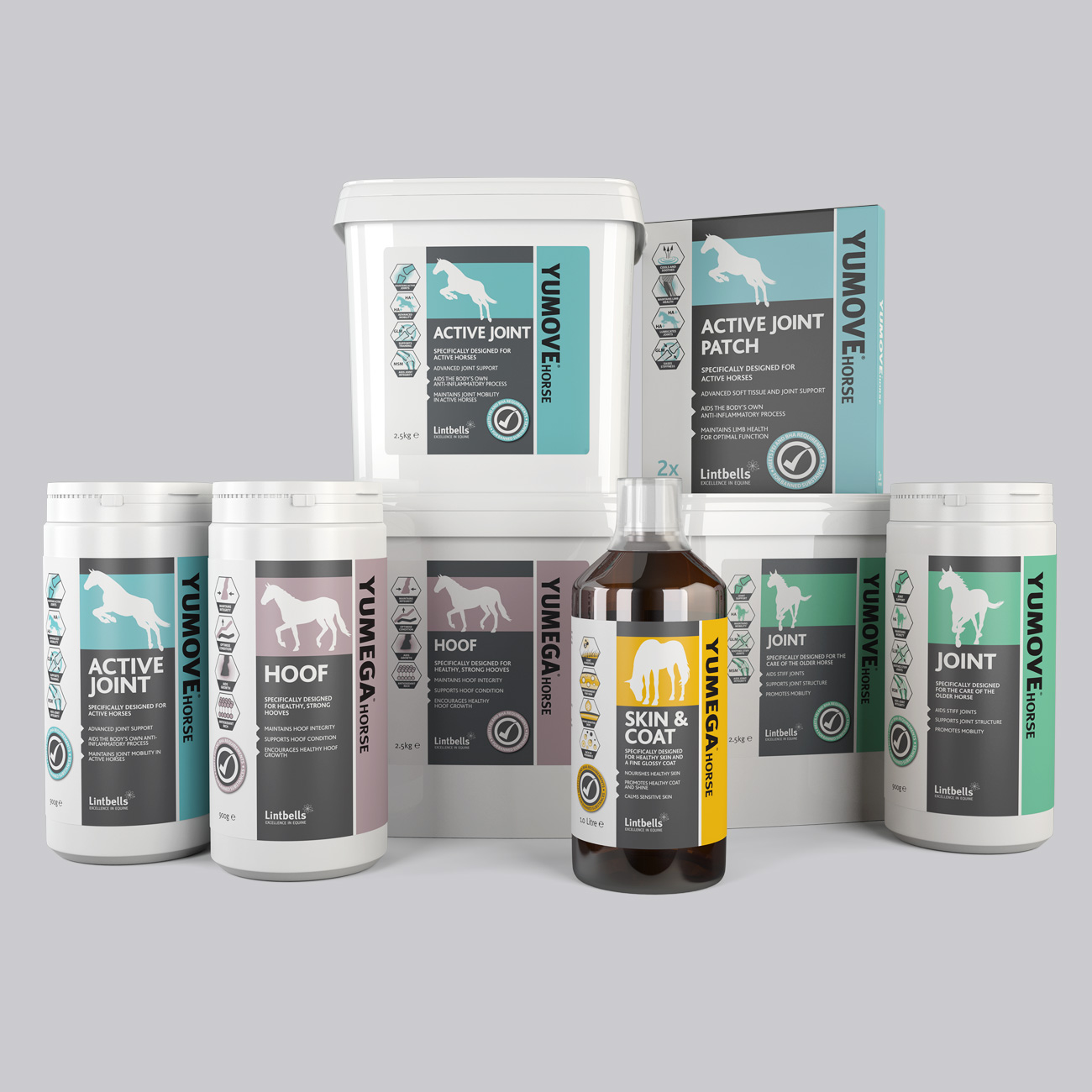 Packaging and branding for Lintbells equine range