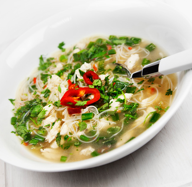 Vietnamese turkey broth food photography by FSG Design