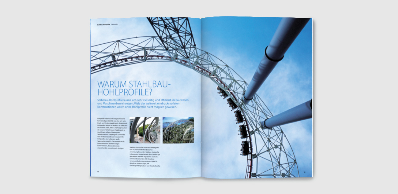 Multilingual specification brochure for Tata Steel