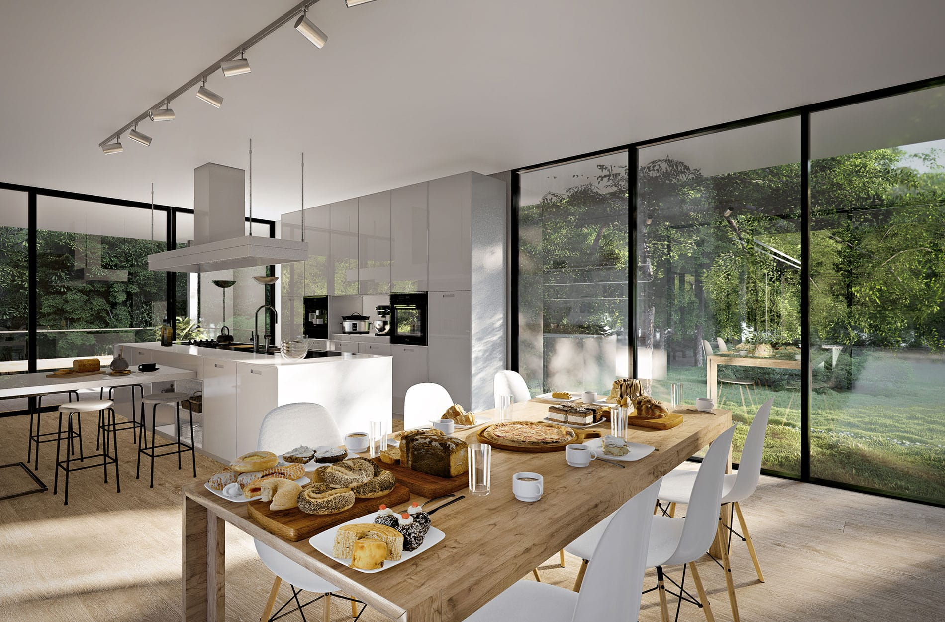 Photo realistic kitchen interior 3D visualisation