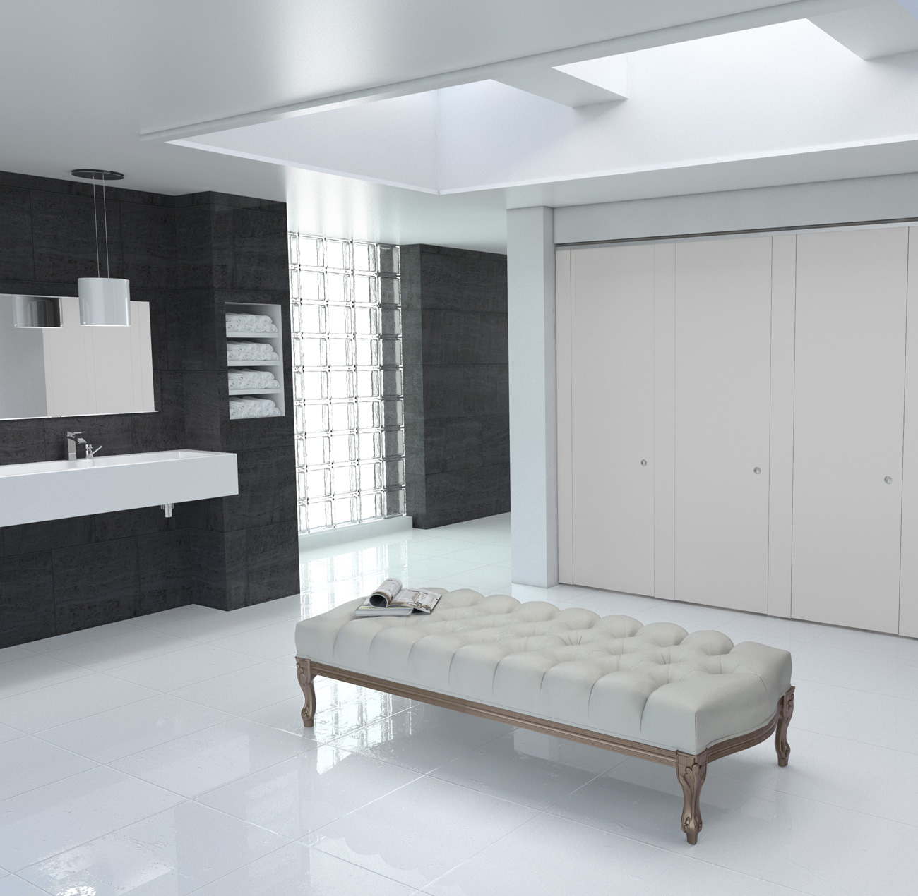 CGI 3D modelling for Bushboard Washrooms Definition range