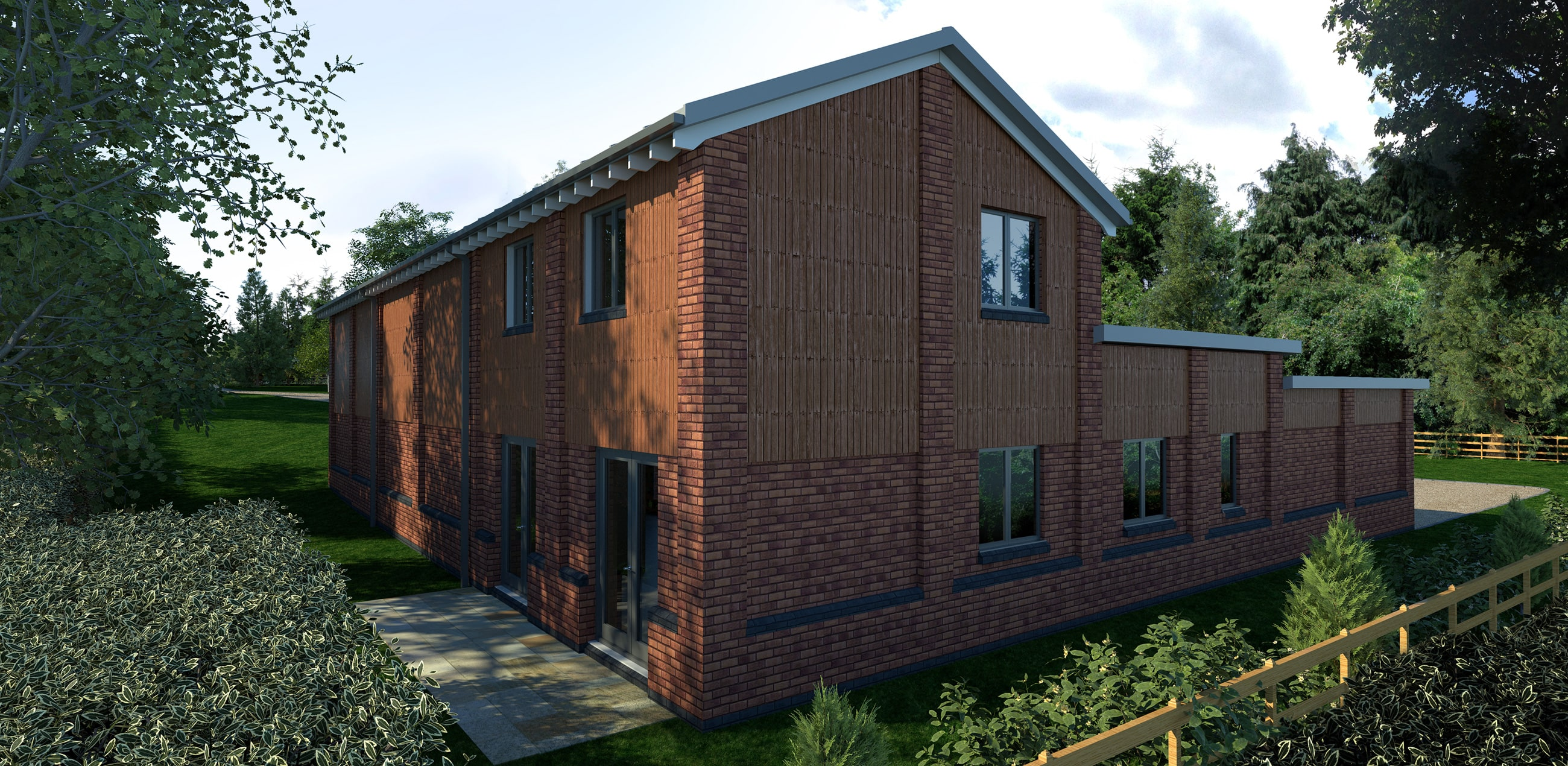 Photo realistic architectural rendering for new build visualisation